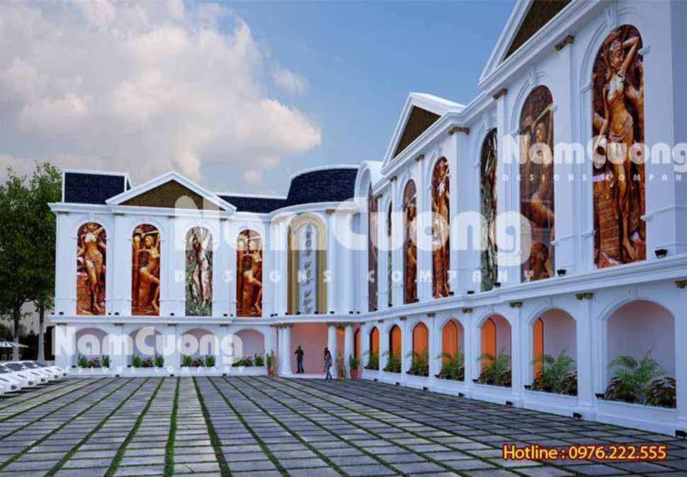 kiến trúc spa sang trọng