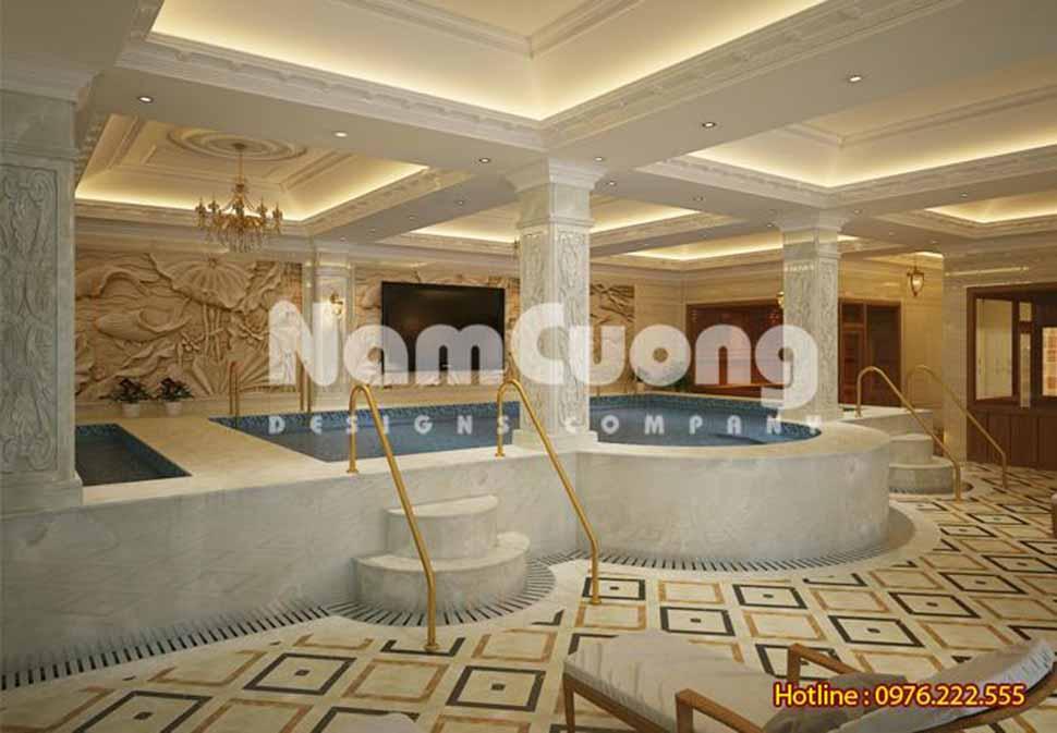 khu tắm nam trong spa