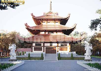 thiết kế tháp chùa tại bình phước