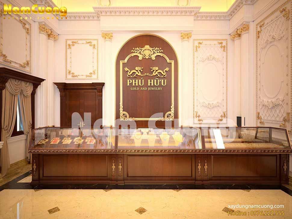 thiết kế tiệm vàng sang trọng