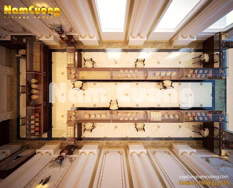 không gian tiệm vàng tại nghệ an