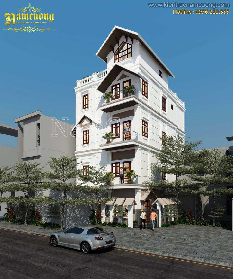 nhà mái thái 4 tầng