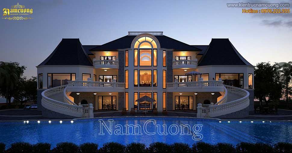thiết kế bể bơi trước nhà
