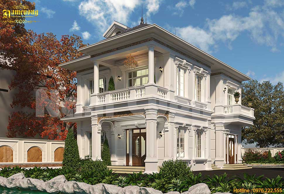 biệt thự vườn kiến trúc pháp