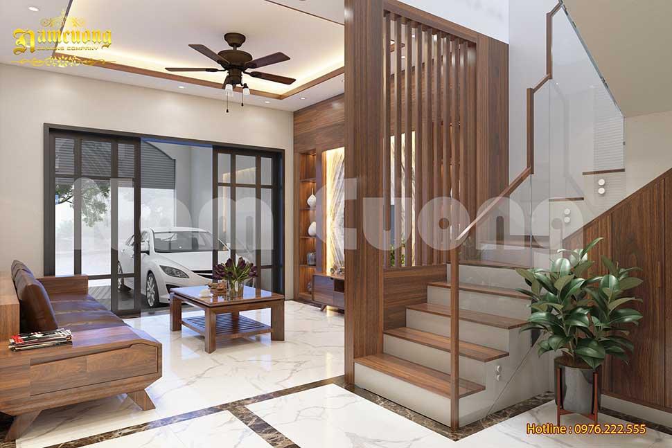 nội thất phòng khách nhà ống 4 tầng