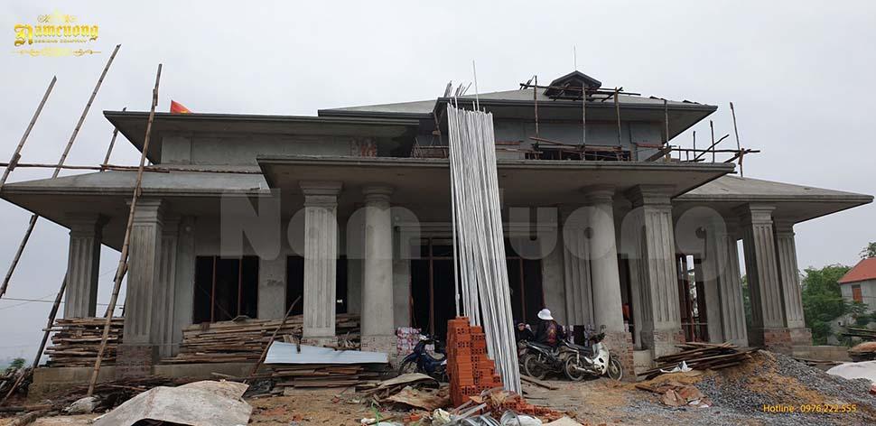 xây trọn gói biệt thự 2 tầng