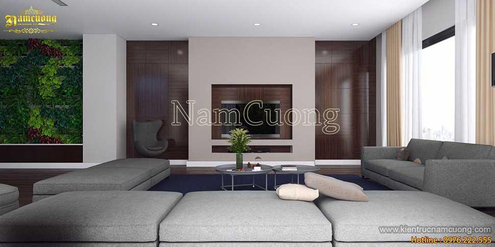 không gian phòng khách trong biệt thự