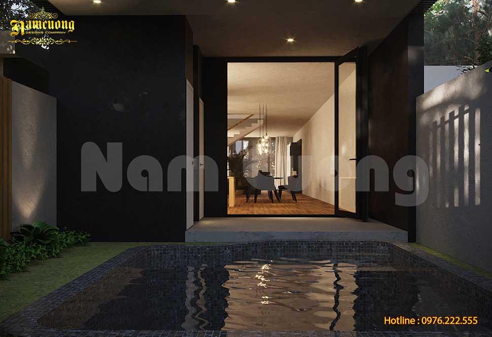 bể bơi sau nhà
