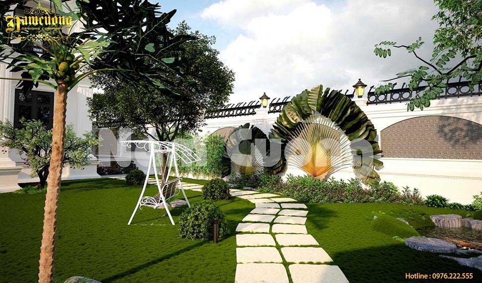 mẫu thiết kế sân vườn