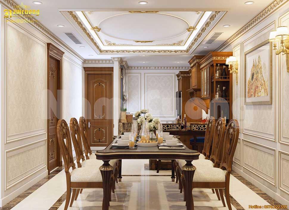 khu bàn ăn