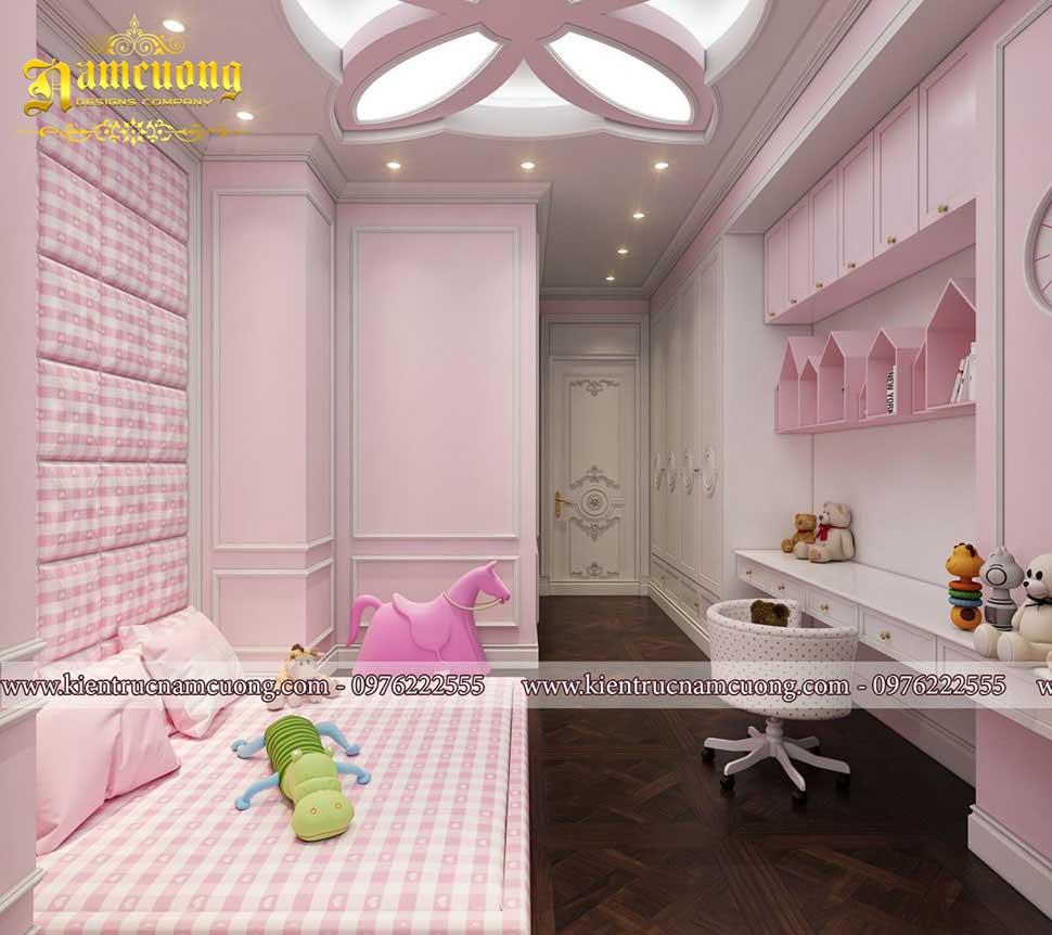 nội thất màu hồng