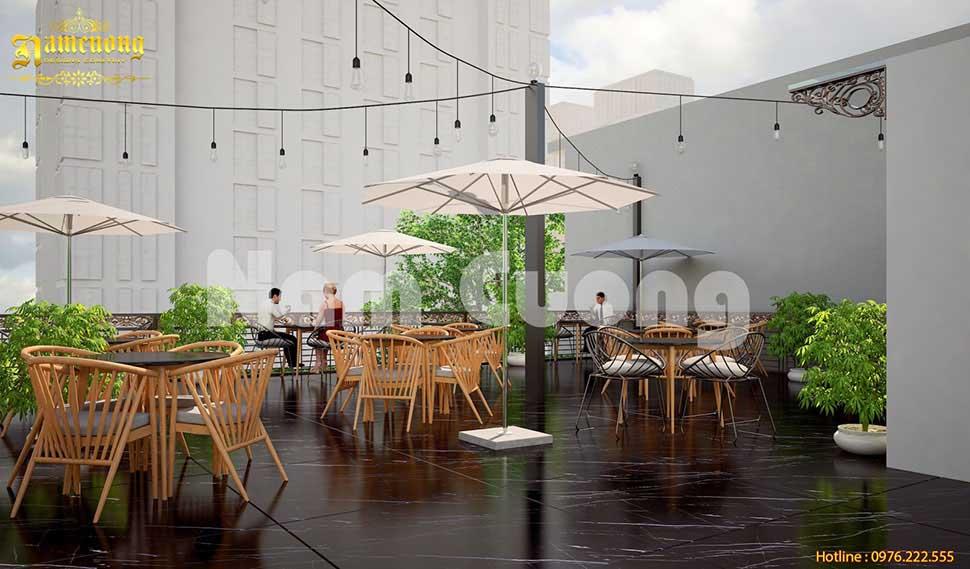 cafe sân thượng