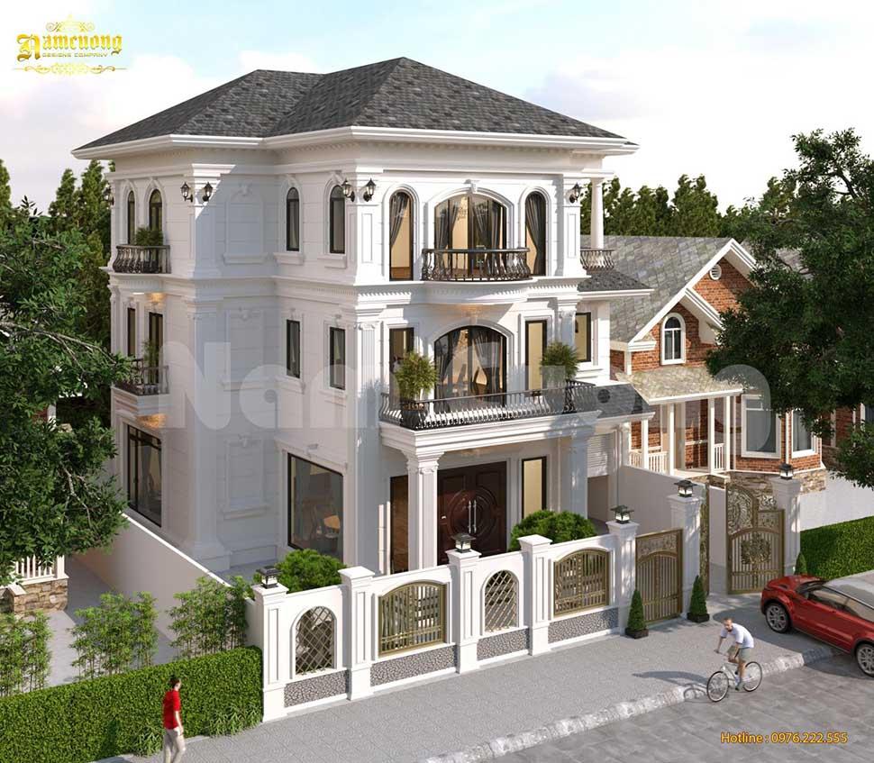 nhà 3 tầng kiểu pháp