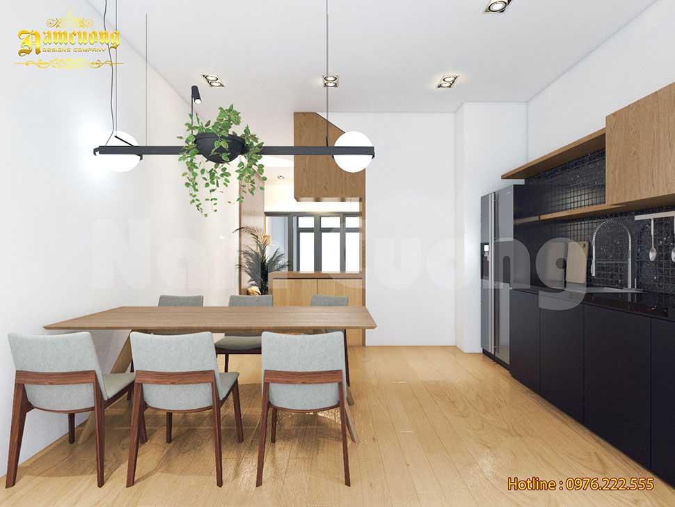 không gian phòng bếp biệt thự hiện đại