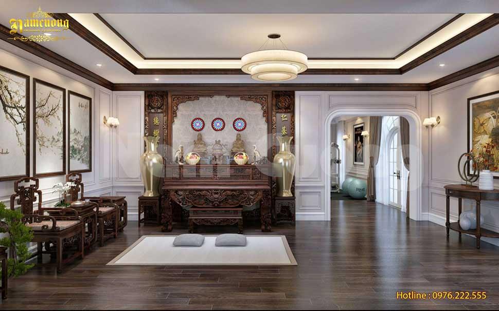 thiết kế phòng thờ thự tân cổ điển
