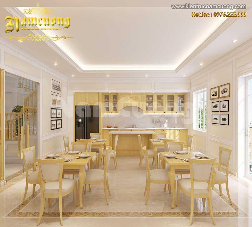 thiết kế phòng ăn