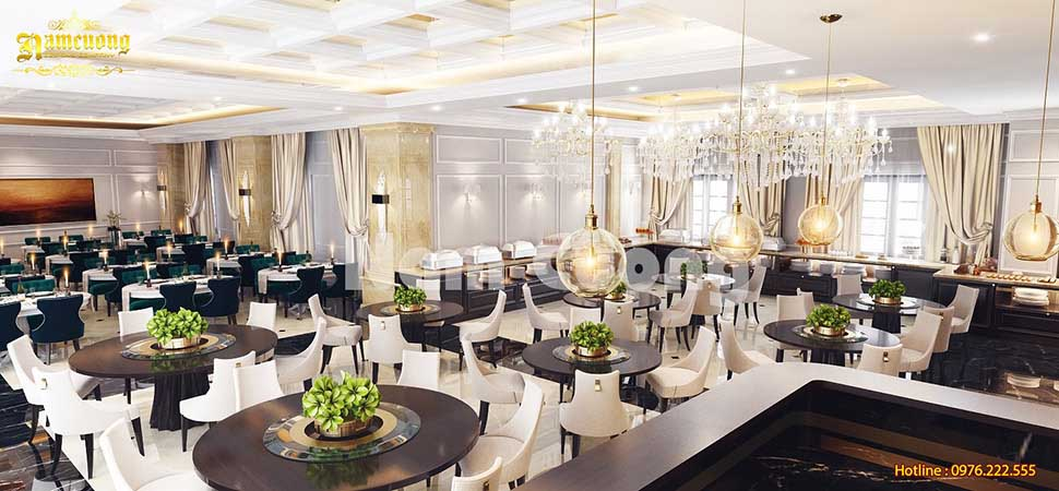 phòng ăn trong khách sạn