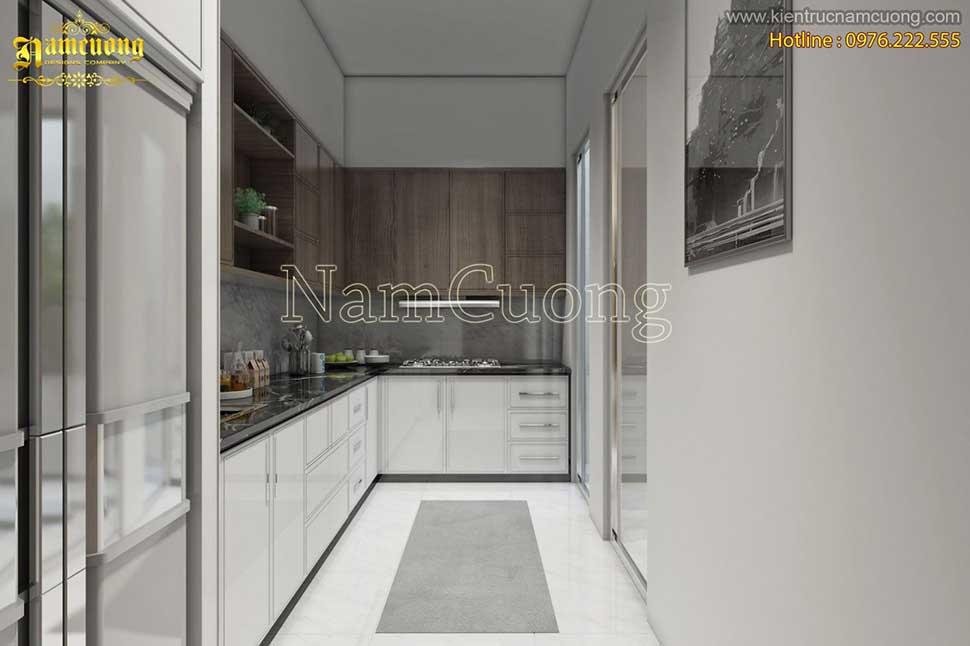 phòng bếp nhà ống hiện đại