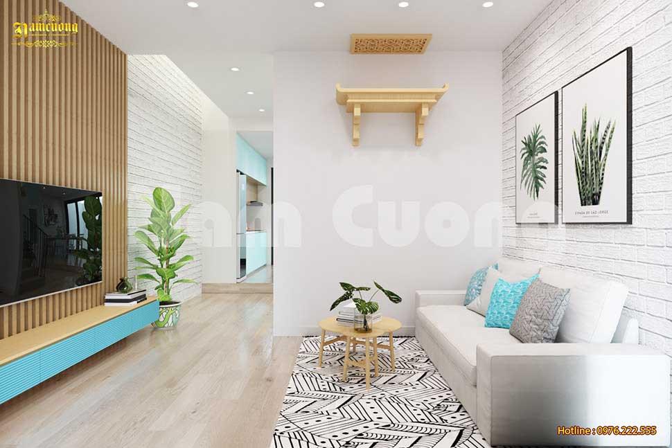 nội thất tối giản cho phòng khách
