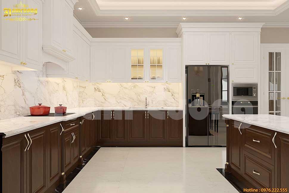 thiết kế bếp tân cổ điển