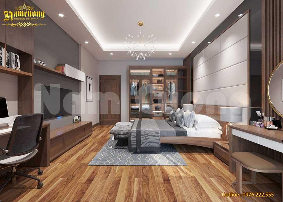 phòng ngủ gỗ tự nhiên
