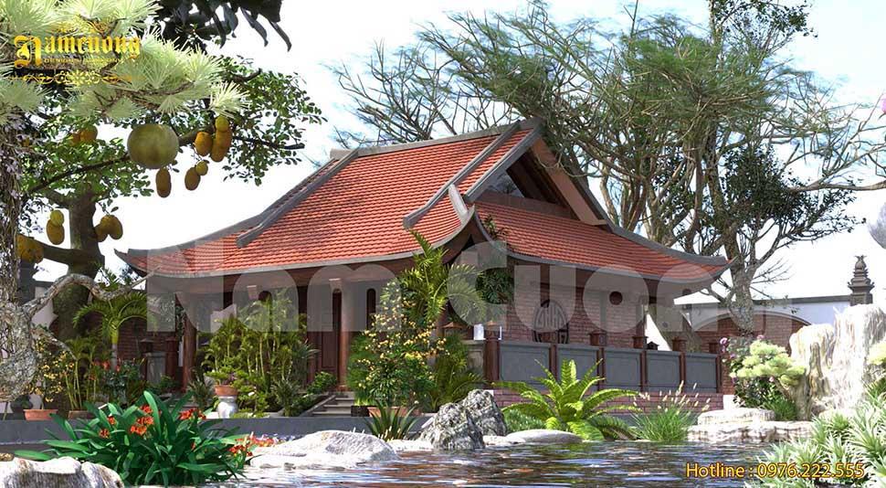 nhà thờ 3 gian 4 mái