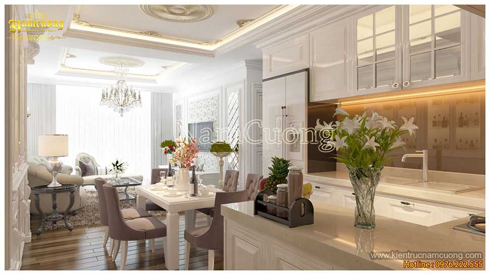 không gian mở nội thất chung cư