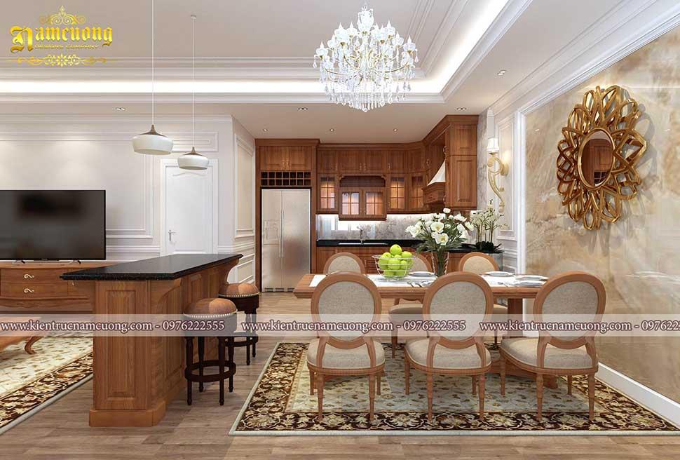 khu bếp nấu chung cư