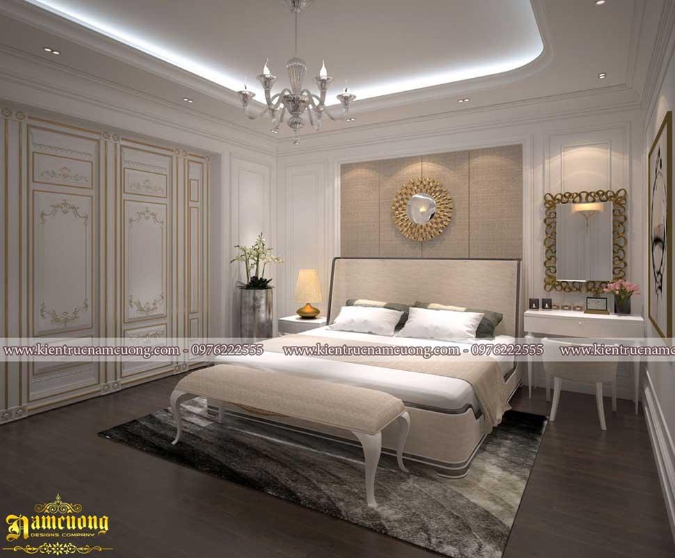 phòng ngủ chung cư tân cổ điển