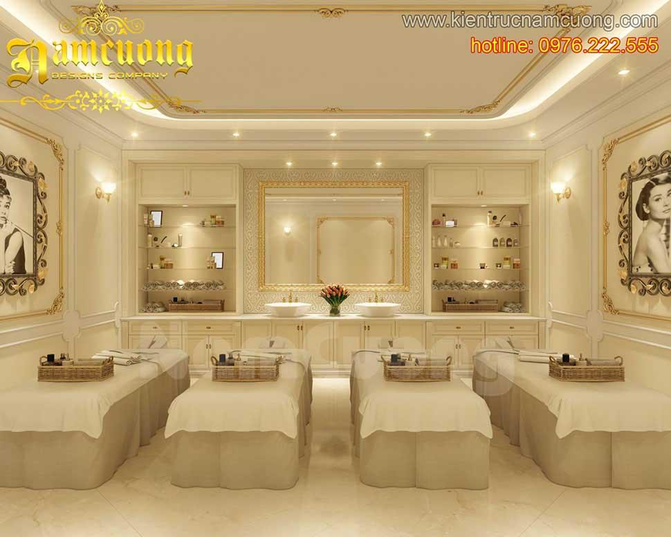 thiết kế phòng massage spa