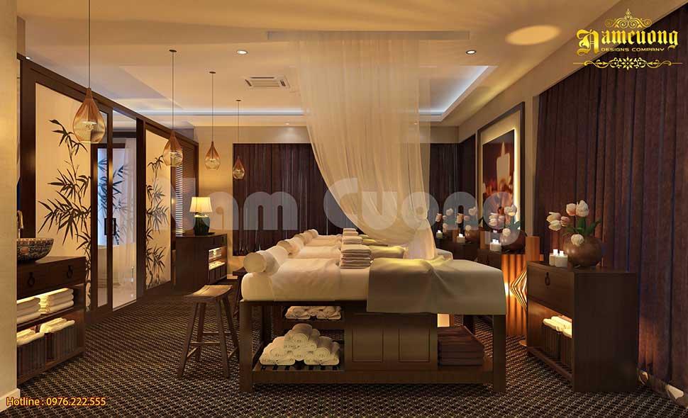 không gian nội thất spa